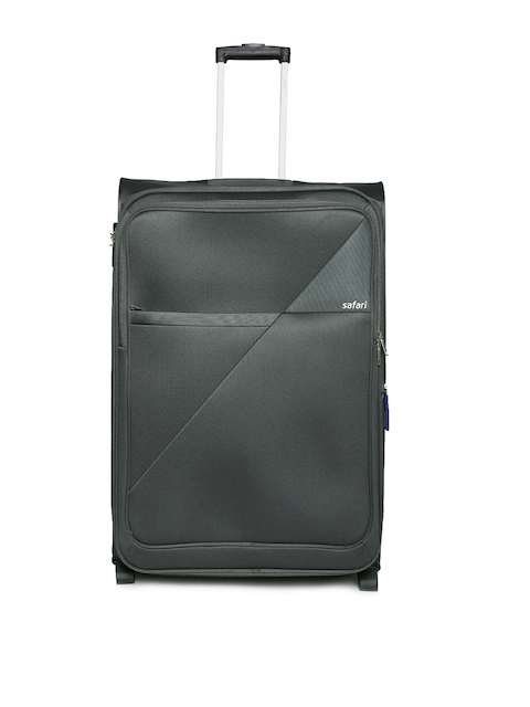 Safari Unisex Grey Blade Large Trolley Bag