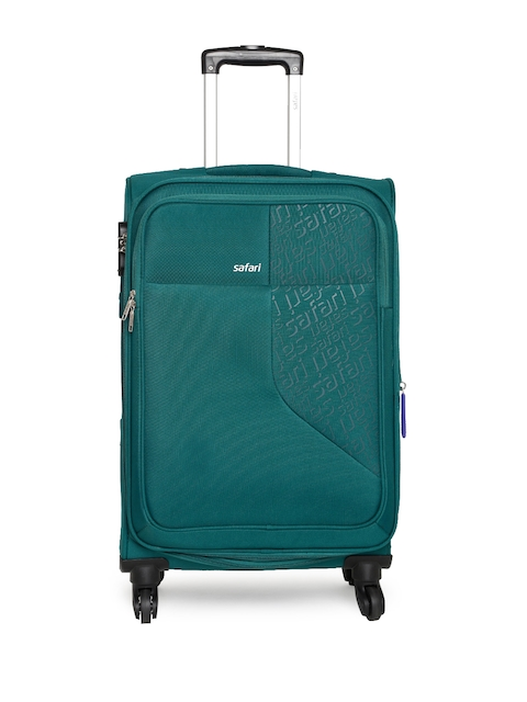 Safari Unisex Teal Green Badge Medium Trolley Bag