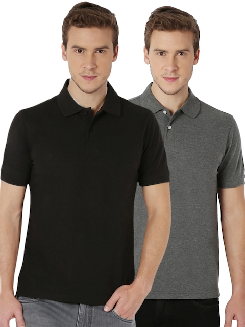 Peter England Pack of 2 Slim Fit Polo T-shirts