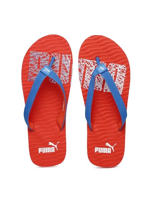 Puma Unisex Blue & Red Miami Fashion II Flip-Flops