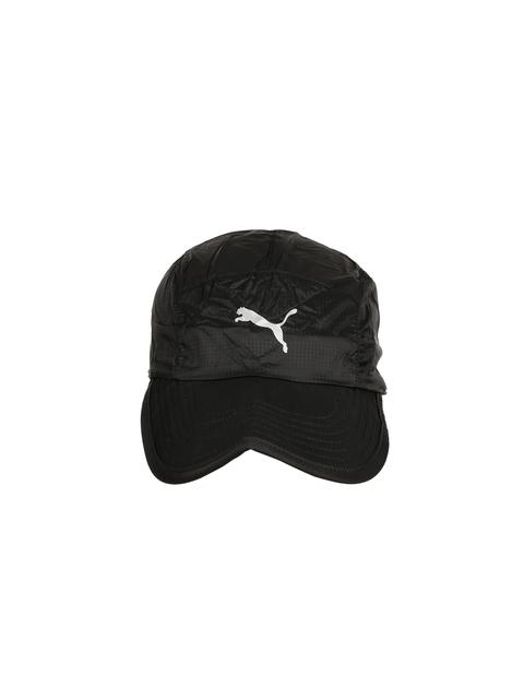 Puma Unisex Black Self-Checked Packable Running Cap