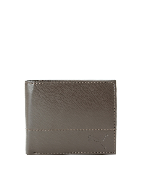 Puma Men Brown Solid Two Fold Wallet