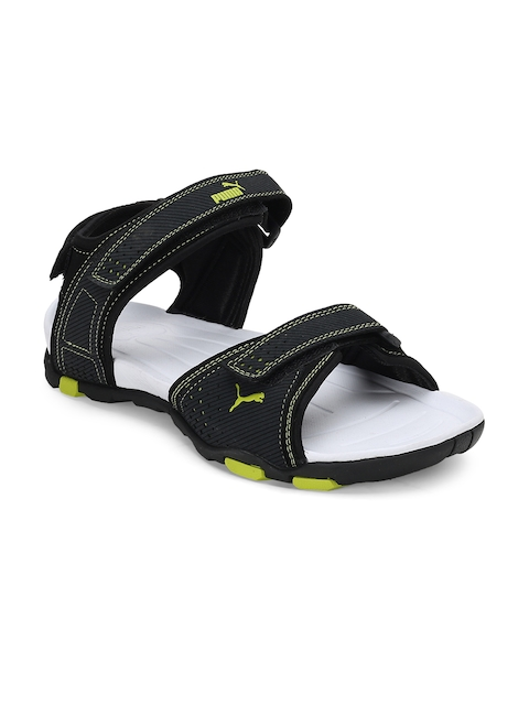 PUMA Men Black Helium IDP Sports Sandals