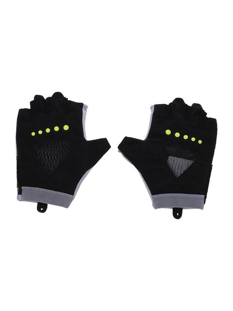 Puma Unisex Black & Grey Half-Finger Gym Gloves