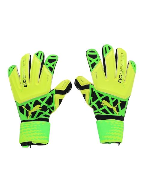 Puma Men Yellow evoSPEED 1.5 Goalkeeper Gloves