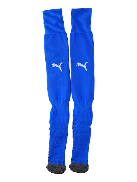 Puma Men Blue Match Knee-Length Socks