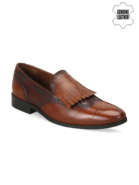 BRUNE Men Brown Genuine Leather Semiformal Shoes