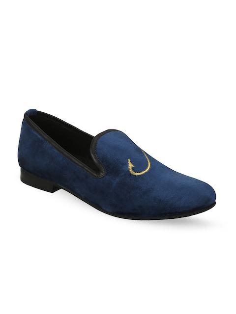BARESKIN Men Blue Loafers