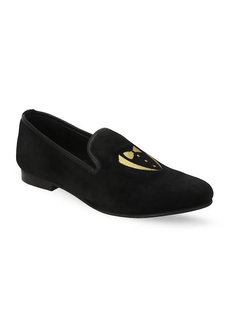 BARESKIN Men Black Loafers