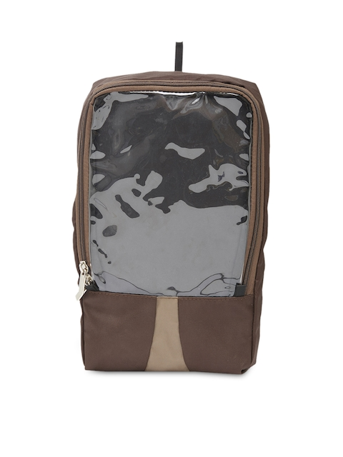 Bags.R.us Unisex Brown Shoe Travel Bag