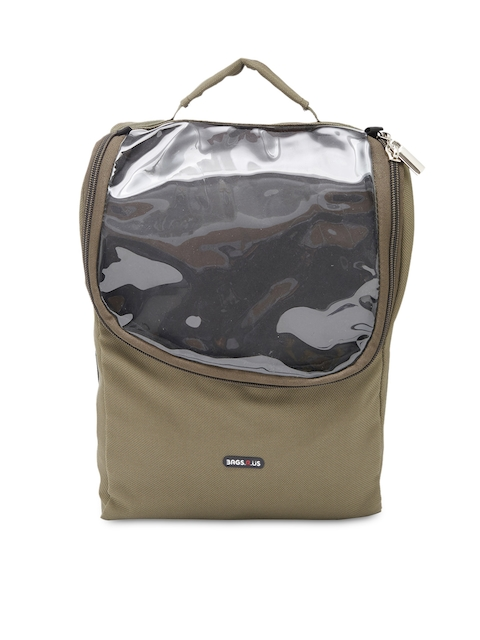 Bags.R.us Unisex Olive Green Shoe Travel Bag