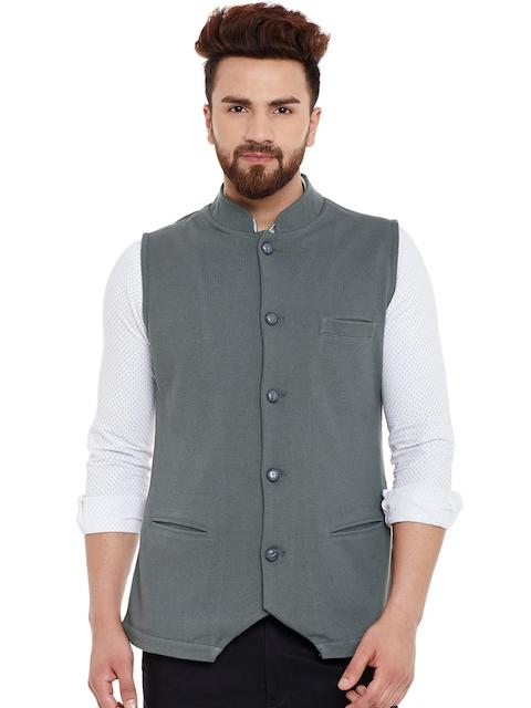 Hypernation Grey Nehru Jacket