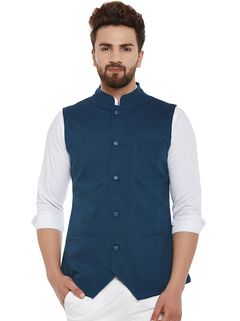Hypernation Blue Nehru Jacket