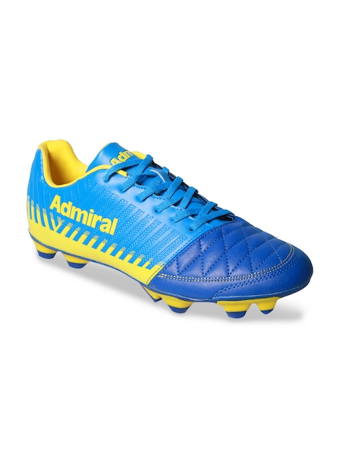 Admiral Men Blue & Yellow Football Shoes