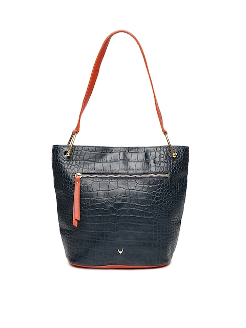 Hidesign Blue Textured Shoulder Bag