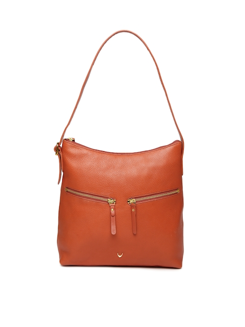 Hidesign Orange Solid Hobo Bag
