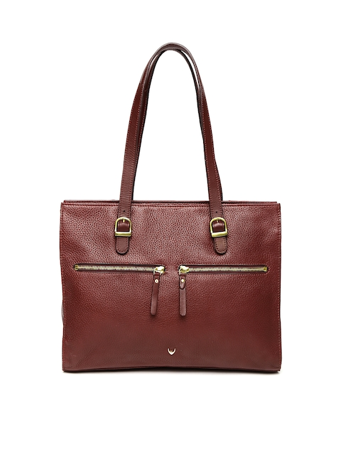 Hidesign Maroon Solid Shoulder Bag