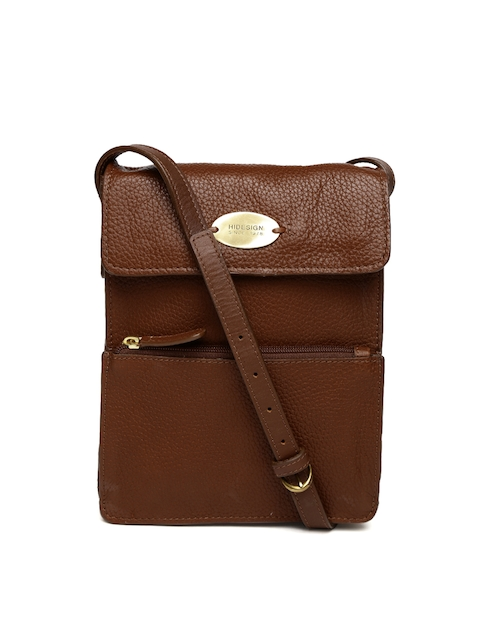 Hidesign Brown Solid Sling Bag