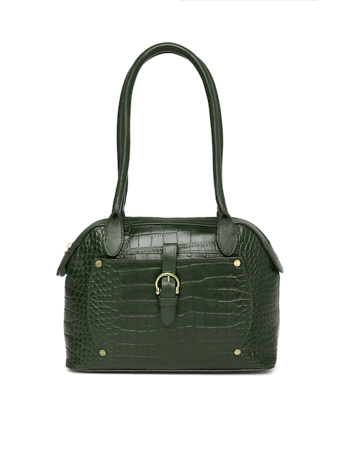 Hidesign Green Textured Shoulder Bag