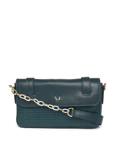 Hidesign Navy Textured Shoulder Bag