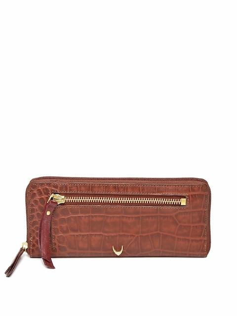 Hidesign Women Brown Textured Zip Around Wallet