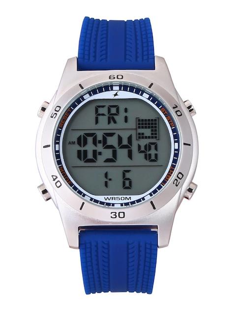 Fastrack Digital Grey Dial Men's Watch, 38033SP02