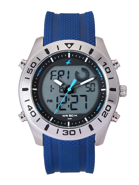 Fastrack Men Blue Analogue and Digital Watch 38034SP02J