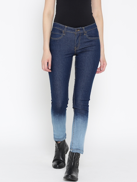 Roadster Women Blue Skinny Fit Mid-Rise Clean Look Stretchable Jeans  available at myntra for Rs.449