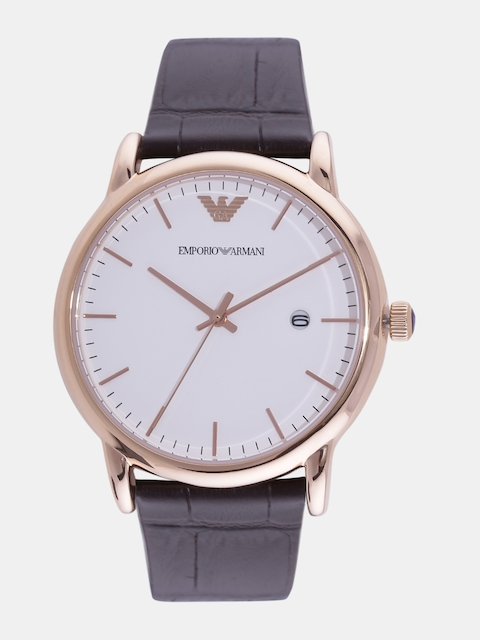 Emporio Armani Men White Analogue Watch AR2502I