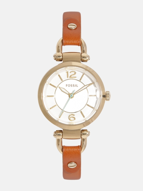 Fossil Women Off-White Analogue Watch ES4000