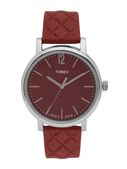 Timex Women Maroon Analogue Watch TW2P71200