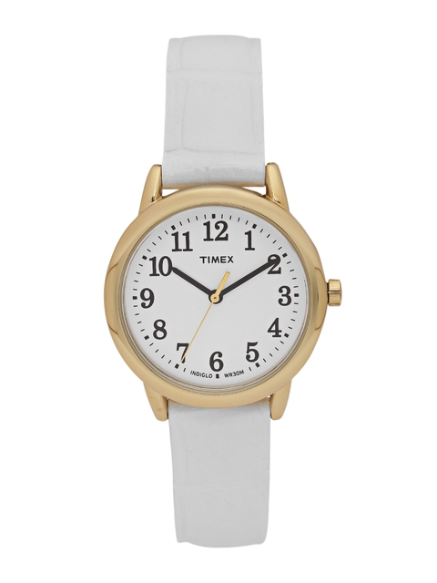 Timex Analog White Dial Women's Watch, TW2P68900