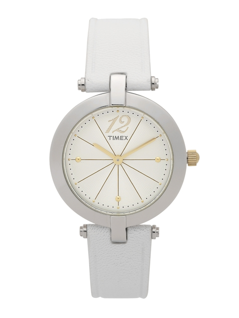 Timex Women Cream-Coloured Analogue Watch TWH3Z2710