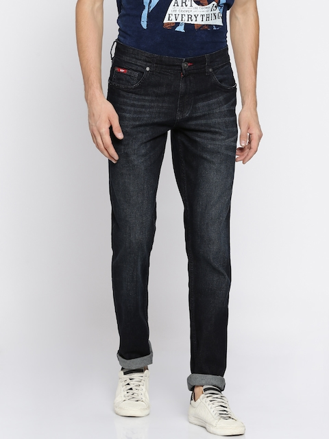 Lee Cooper Men Blue Regular Fit Mid-Rise Clean Look Stretchable Jeans