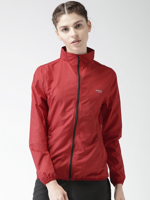 2GO Women Red Printed Sporty Jacket