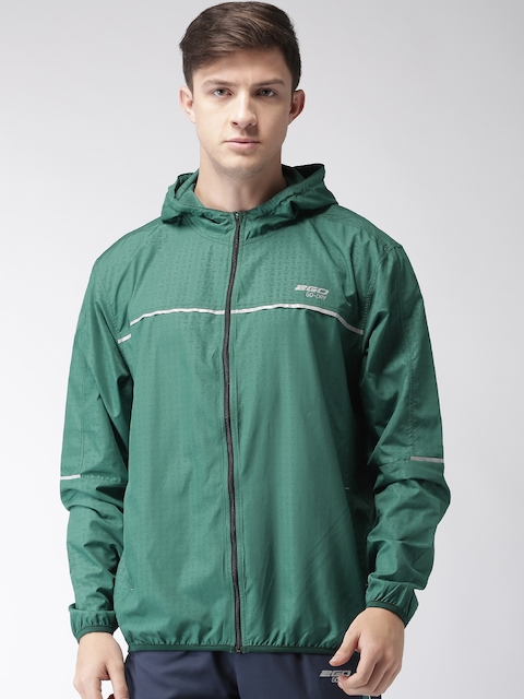 2GO Men Green Printed Sporty Jacket