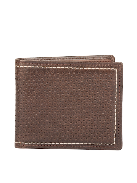 CHISEL Men Brown Textured Two Fold Wallet