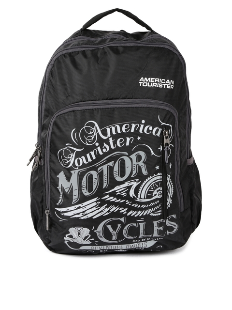 AMERICAN TOURISTER Unisex Black Printed Backpack