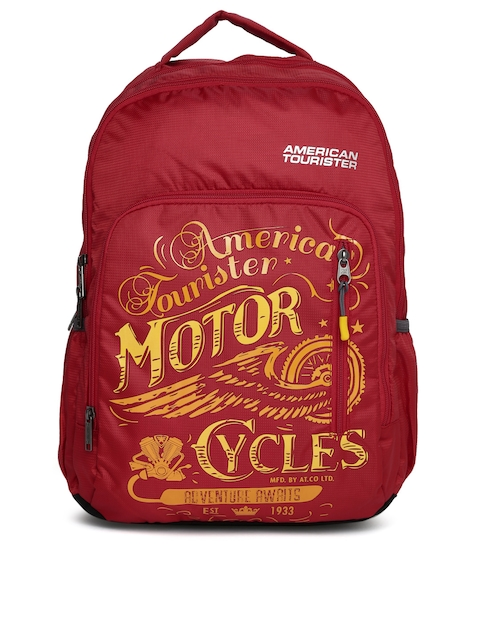 AMERICAN TOURISTER Unisex Red AMT BOOM Graphic Backpack