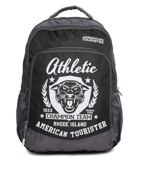 AMERICAN TOURISTER Unisex Black Printed AMT VOLT Backpack