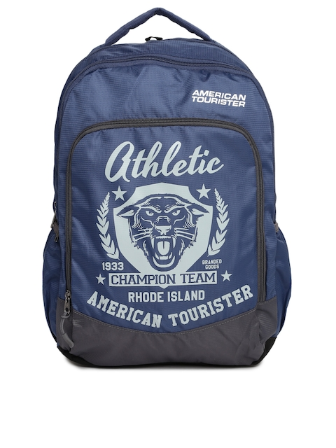 AMERICAN TOURISTER Unisex Blue Printed AMT VOLT Backpack