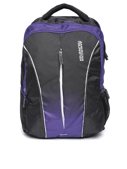 AMERICAN TOURISTER Unisex Purple & Black Solid Backpack