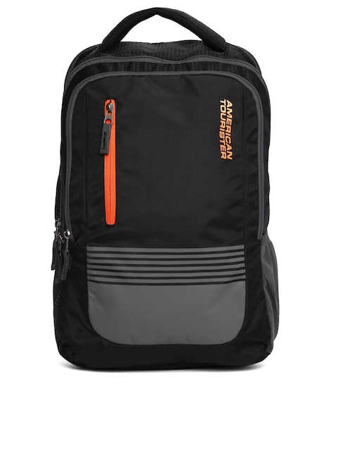 AMERICAN TOURISTER Unisex Black Colourblocked AMT AERO Laptop Backpack