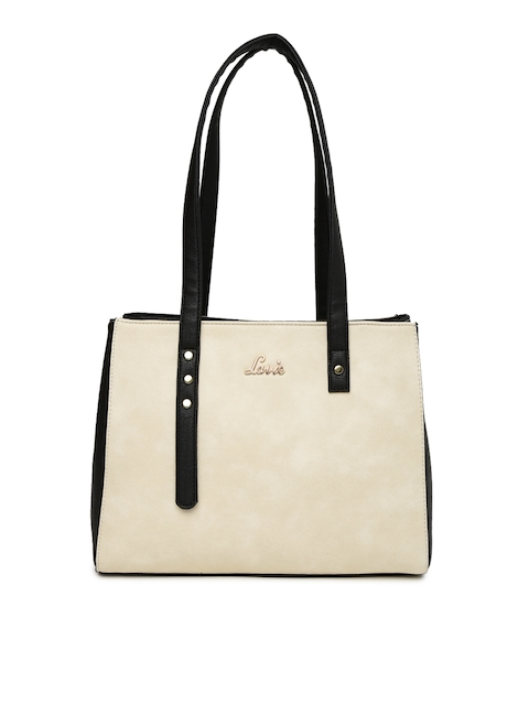 Lavie Beige Shoulder Bag