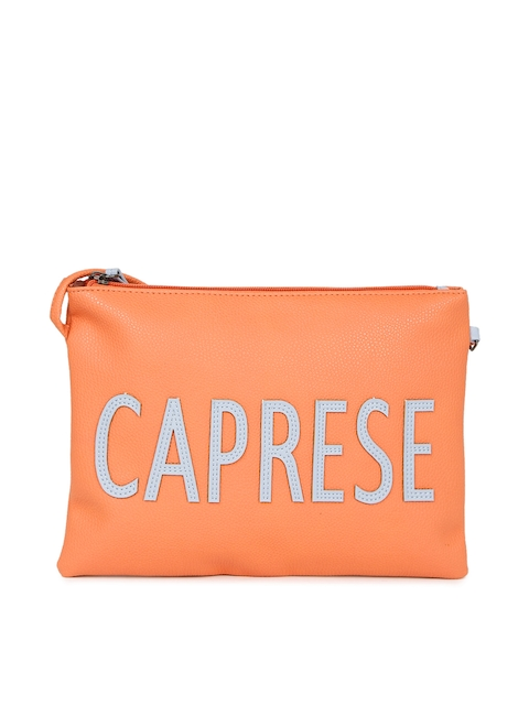 Caprese Orange Solid Sling Bag