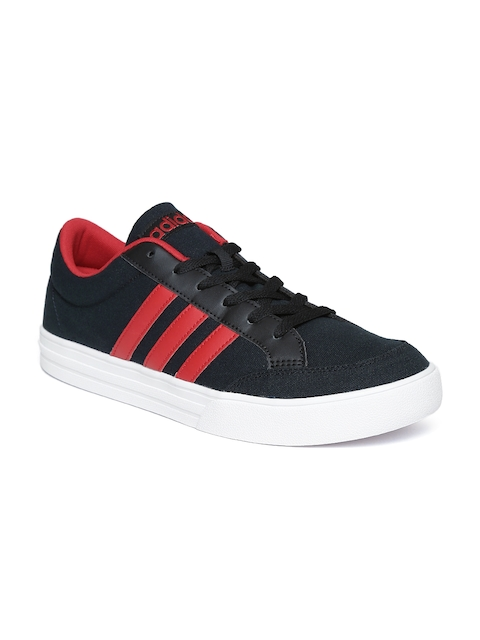 Adidas NEO Men Black VS SET Sneakers  available at myntra for Rs.1979