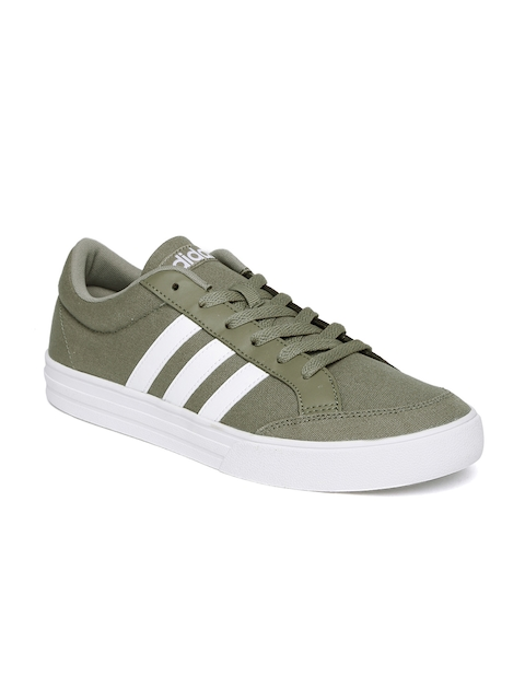 ADIDAS NEO Men Olive Green VS SET Sneakers