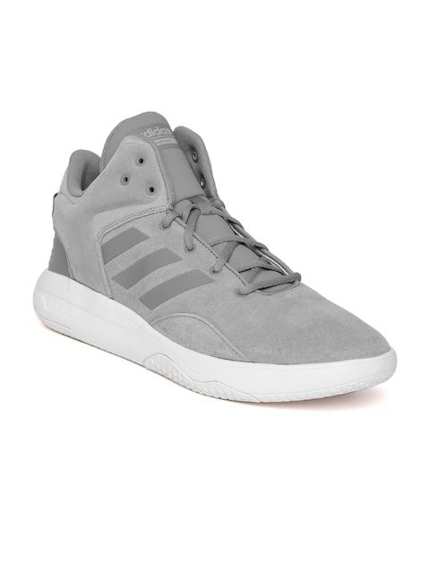 58a572415e3bbb ADIDAS NEO Men Grey CloudFoam REVIVAL Suede Sneakers