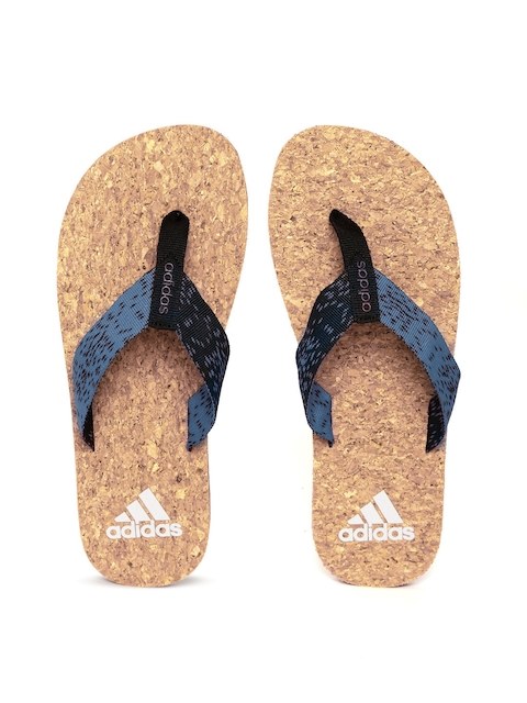 Adidas Men Blue & Black Beach Cork 2017 Flip-Flops