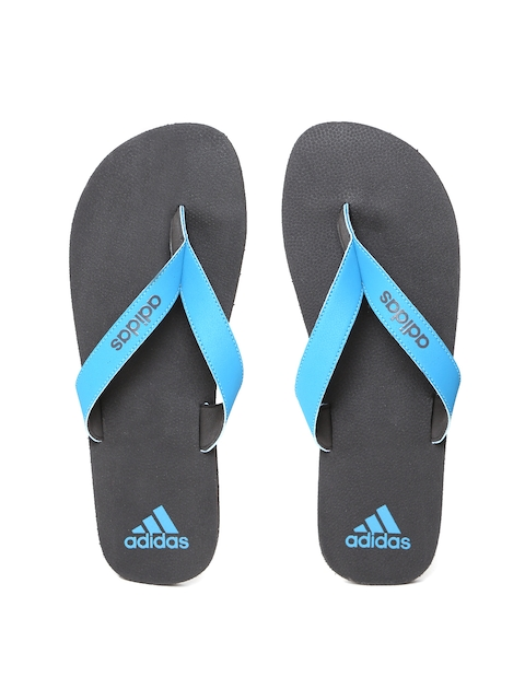 ADIDAS Men Blue & Black Puka Flip-Flops